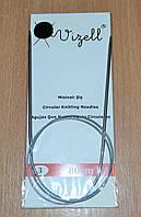 Спицы для вязания круговые Vizell 3,0 мм на тросе 80 см.