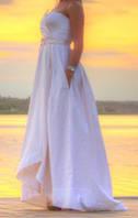 Белое вечернее дизайнерское платье Kriza