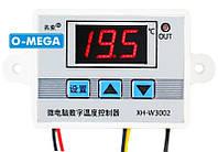 Терморегулятор цифровой XH-W3002 12В (-50...+110) с порогом включения в 0.1 градус, фото 1