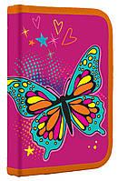 Пенал 1 Вересня твердий одинарний с клапаном Butterfly 531793