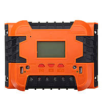 PWM12V/24VСолнечнаяКонтроллер заряда Батарея Зарядка LCD Дисплей Подсветка 10A/20A/30A/40A/50A/60A