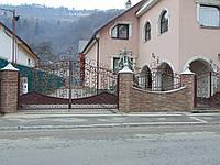 Кованые ворота В-14, фото 1