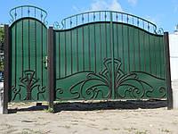 Кованые ворота В-15, фото 1