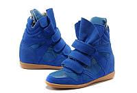 Кроссовки сникеры Isabel Marant синие, фото 1