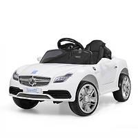 Детский электромобиль MERCEDES M 3177 EBLR-1: 2.4G. EVA-колеса, 50W, кожа - БЕЛЫЙ - купить оптом, фото 1
