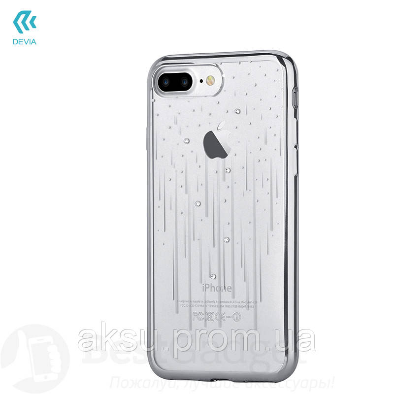 Чехол Devia Crystal Meteor Soft Case iPhone 7Plus/8Plus Silver