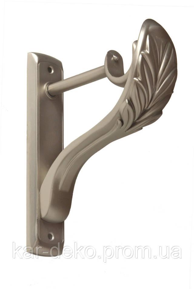фото карниз металлический однорядный крепление лепесток