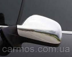 Накладки на зеркала пежо 407 (Peugeot 407) нерж. 2шт