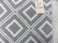 Плед Vladi Жаккардовый Смарагд бело-серый 140*200 см
