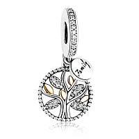 Серебряное кулон -шарм PANDORA- семейное дерево!