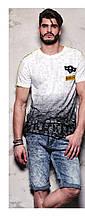 Рваная мужская футболка Glo-story, два цвета