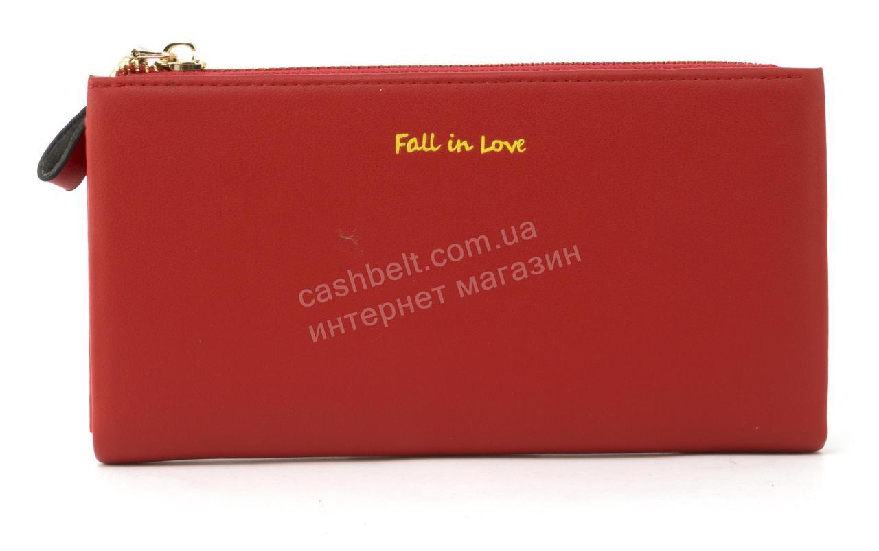 014475f91e1a Стильный прочный удобный женский кошелек барсетка высокого качества Canevo  Love art. J-7095 красный