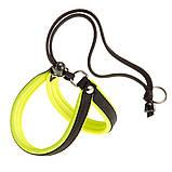 Шлея нейлон для собак AGILA FLUO 4 Ferplast (Ферпласт) с мягкой подкладкой и двойной микрорегулировкой, цвет в, фото 3