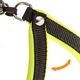 Шлея нейлон для собак AGILA FLUO 4 Ferplast (Ферпласт) с мягкой подкладкой и двойной микрорегулировкой, цвет в, фото 6