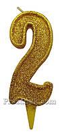 Свеча-цифра 2
