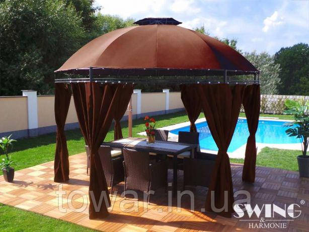Павильон садовый альтана шатер LAVO (Ø): 3.50 м коричневый