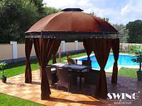 Павильон садовый альтана шатер LAVO (Ø): 3.50 м коричневый, фото 1