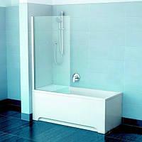 Шторки для ванны Ravak PVS1-80 79840100Z1 белый/прозрачное 800х1400 мм