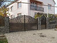 Ворота з профнастилу В-41