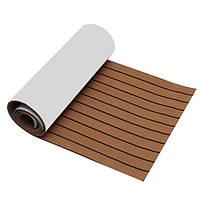 90x200cm/90x230cm EVA Foam 6mm Brown Flooring Faux Teak Лодка Палубная панель для настила