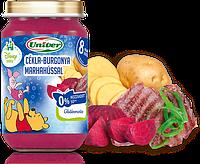 Свекла с картофелем и говядиной - детское питаниеот 8 мес/ 163 г .Венгрия