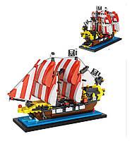LOZBlackSeasBarracudaPirateShip Mini DIY Сборка кирпичного кирпича для детей