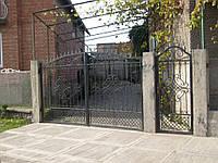 Кованые ворота В-43, фото 1