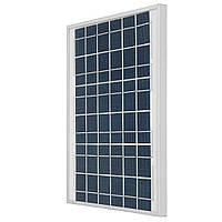 Серебристый/черный 10W 18V Поликристаллический кремний Солнечная Панель с развязкой Коробка Для Авто Аккумуляторы/RV/Лодка