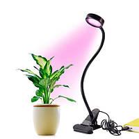 8W Dimmable USB 16 LED Растение Увеличить легкий гибкий USB-Clip для внутреннего