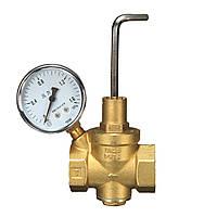 DN25 Латунный редукционный клапан давления воды+манометр Датчик давления воды