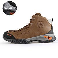 МужчиныHUMTTOНаоткрытомвоздухеВосхождение на обувь для походов Кожаный треккинг Держите теплый Водонепроницаемы Кроссовки