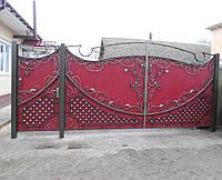 Ворота з профнастилу В-24