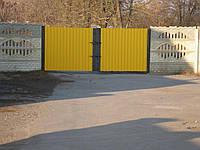 Ворота з профнастилу В-27
