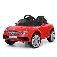 Детский электромобиль MERCEDES M 3177 EBLR-3: 2.4G. EVA-колеса, 50W, кожа - КРАСНЫЙ - купить оптом, фото 1