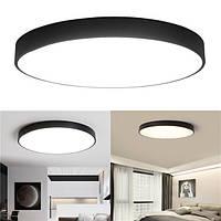 12W 18W 24W 5CM Теплый / холодный белый LED Потолочный светильник Black Mount Fixture для гостиной с домашней спальней - 1TopShop