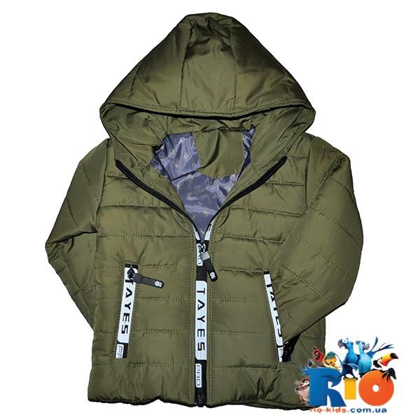 Весенняя матовая куртка болоньевая, на синтепоне (1 слой), для детей рост 92-116 см (5 ед в уп)