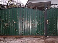 Ворота з профнастила В-30, фото 1