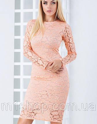 Женское облегающее гипюровое платье (Кристи mrb), фото 2