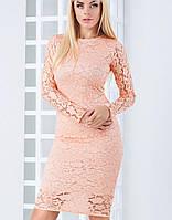 Женское облегающее гипюровое платье (Кристи mrb)