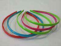Уценка!!! Обруч для волос пластиковый глянцевый 8 мм, 4 цвета, упаковка 5 шт., фото реальное, фото 1