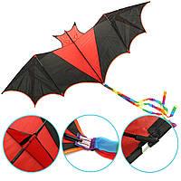 198CM3DОгромныелетучиемышиКайт Летающие одиночные линии животных животных кайт На открытом воздухе Спорт Ветер Детские игрушки
