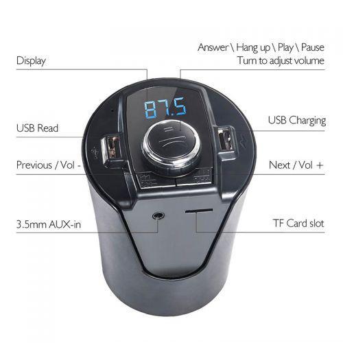 🔥✅ ФМ FM трансмиттер модулятор авто MP3 H26 BX6 в подстаканник