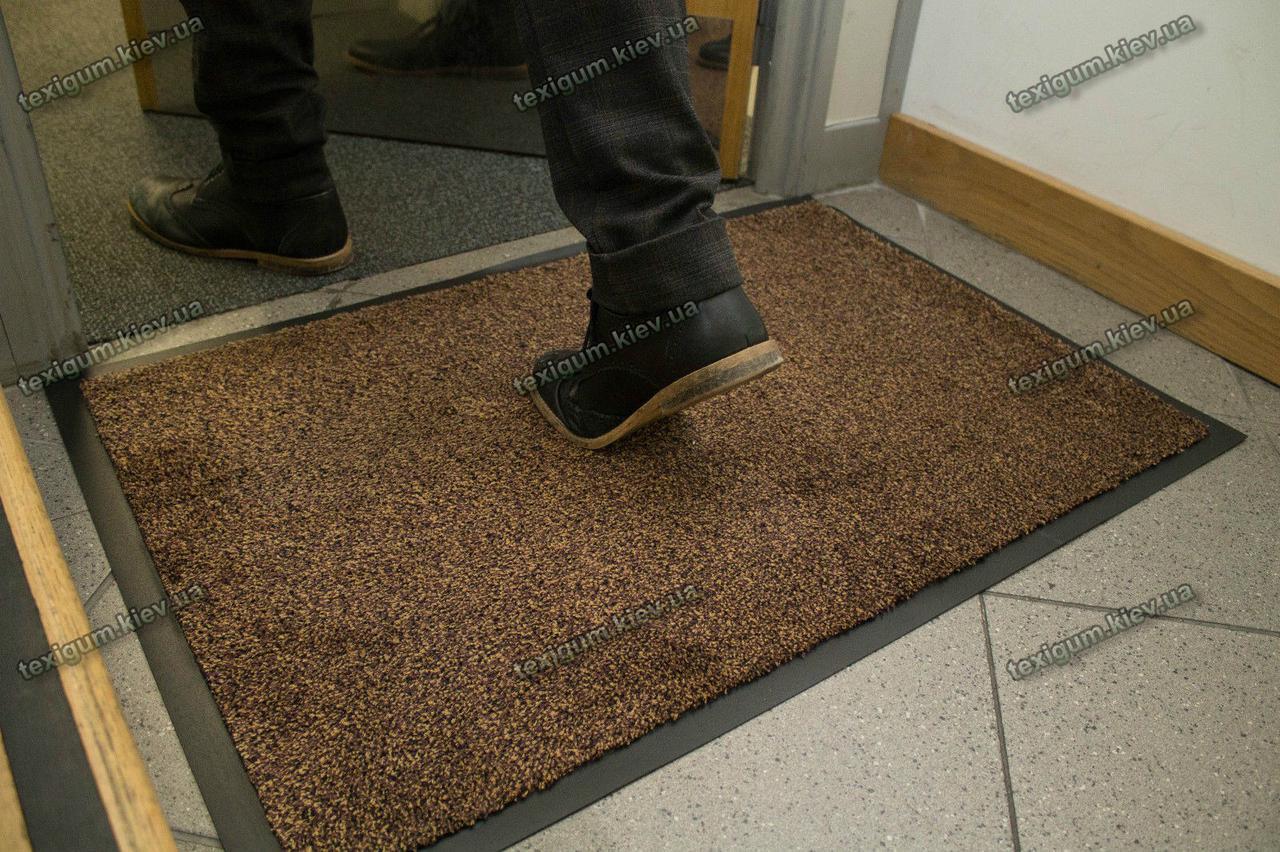Коврик грязезащитный Хлопок, 60х90см., коричневый темный