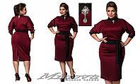 Платье №023 (бордо)