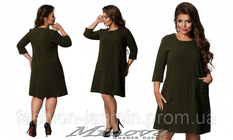 Платье №412А (хаки)