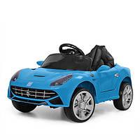 Детский электромобиль FERRARI M 3176 EBLR-4: 2.4G. EVA-колеса, 50W - СИНИЙ - купить оптом, фото 1