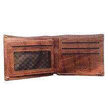 Мужской кошелек с тиснением листа конопли. Портмоне, фото 3