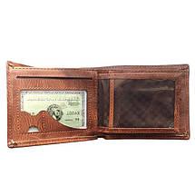 Мужской кошелек с тиснением листа конопли. Портмоне, фото 2