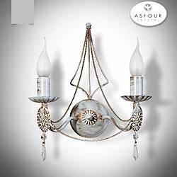 Бра 2-х ламповое, настенный светильник в классическом стиле 17902-1