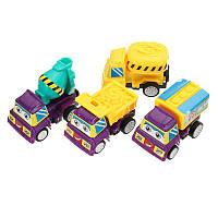4PCSCartoonPullbackTruckConstructionМини-модель автомобиля для детей Дети Рождественский подарок игрушки